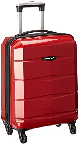 Safari Re-Gloss Polycarbonate 55 cms Red Hardsided Carry-On (Re-Gloss-55-Red-4WH)