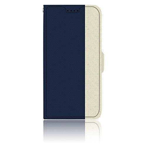 AVIDET iphone 8 iPhone8 Hülle - Hochwertiges PU Leder Etui Tasche für iphone 8 iPhone8 (Gold) Blau