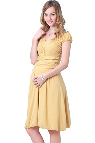 SO1278 Robe de grossesse de soirée et de cérémonie yellow