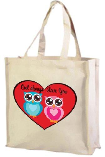 owl-always-love-you-cotton-shopping-bag-cream