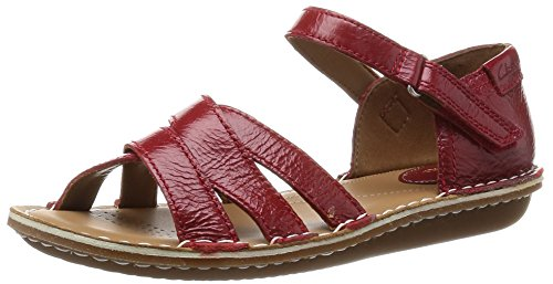 Clarks Tustin Sahara, Damen Knöchelriemchen Sandalen, Rot (Red Leather), 39 EU (5.5 Damen UK)