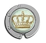 Taschenaufhänger mit Krone, Glas, faltbar