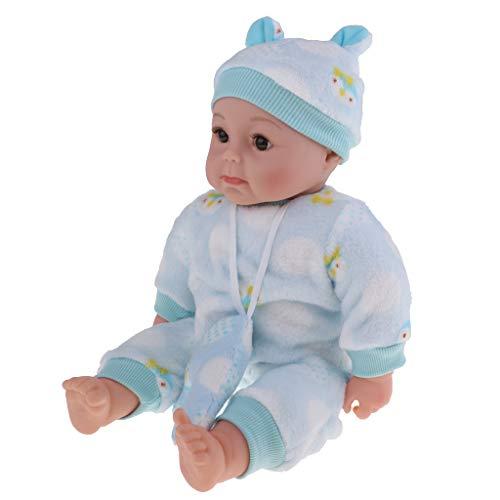 Fenteer 50cm Niedliche Weichkörper Babypuppe Funktionen Säugling Puppe im Kleidung, mit lebensechtem Ausdruck, Spielzeug für Kinder Rollenspiel - B