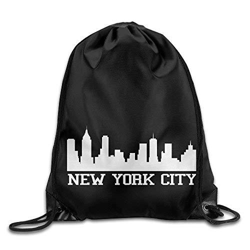 GONIESA Fashion Unisex Gym Bag I Love New York Waterproof Nylon Drawstring Bag