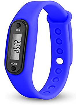 BeautyTop Run Step Uhr Armband Schrittzähler Kalorienzähler Digital LCD Walking Distance (Lila)