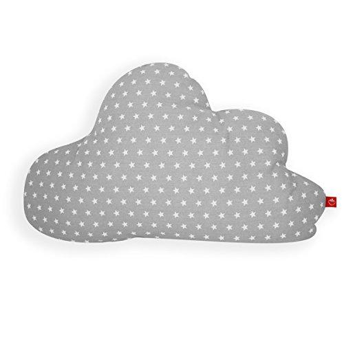 La Fraise Rouge 4251005602706 Kissen Wolke/Geburtsgeschenk, Antoine, grau mit weißen Sternen