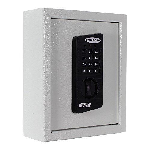 Rottner Schlüsseltresor Keytronic 20 mit Elektronikschloss - inkl. Notöffnung mittels Schlüssel - 20 GRATIS Schlüsselanhänger - für Wandbefestigung - hellgrau