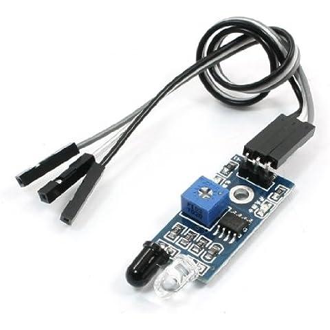 Coche Smart Infrarrojo Obstáculo Evitación Sensor 3,3-5V Azul Negro