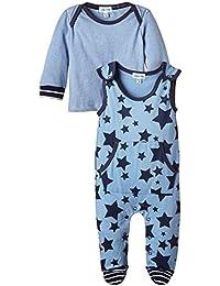 Lilly and Sid Star Jersey Dungaree Set-Pantalones de peto Bebé-Niños,