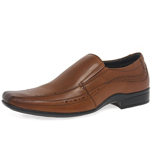 Front SEALEY Mens Formale Slip-On Schuhe Tan