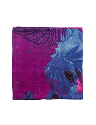 Desigual Damen Schal Foulard_Corel Rectangle, Rot (Purple Potion 3070), One Size (Herstellergröße: U)