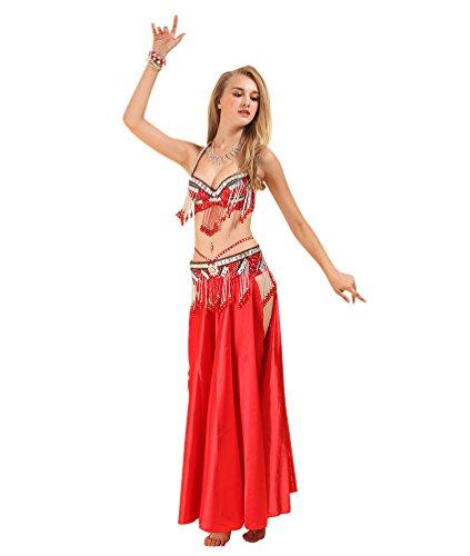 SunWanyi Sexy Damen Performance Bauchtanz Rock Anzug Tribal Oriental Arabian Belly Dance Rock(Referenz - Oriental Kostüm