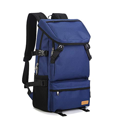 Große Kapazität Reise Rucksack Männlichen Outdoor-Umhängetasche Oxford Tuch 40L Wasserdicht Und Langlebig Bergsteigen Tasche(Blue)