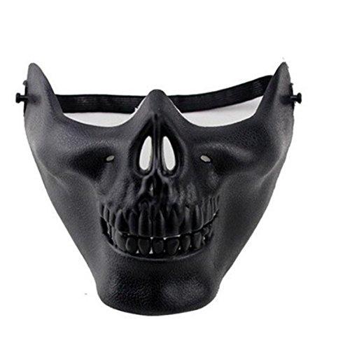 r Schädel Halbmaske Holloween Karneval Fasching Skull Maske (schwarz) (Holloween Masken)