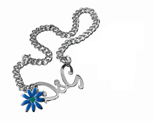Dolce & Gabbana Jewels D&G Flower Necklace W/Flower D&G Logo T-BAR Closure DJ0427 T-bar Strap
