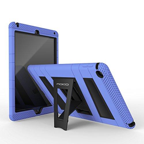 MoKo Case per Apple iPad Air 2 - Custodia Protettiva in silicone ibrido resistente + Nero policarbonato rigido con supporto per Bambini per Apple iPad Air 2 9.7 Inch iOS 8 Tablet, BLU