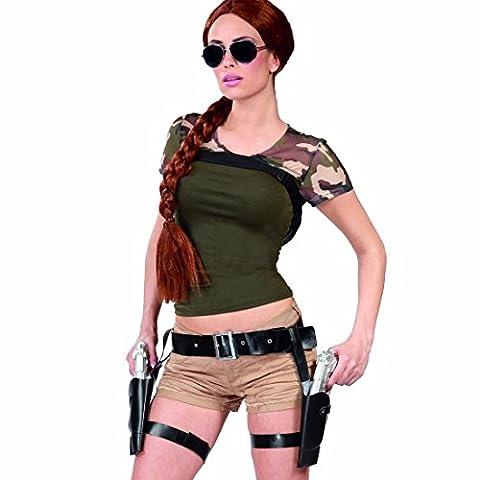 Double porte-pistolets étui Lara Croft avec revolvers gaine avec pistoles déguisement de cowboy ceinture colt holster et pistolets costume accessoire western