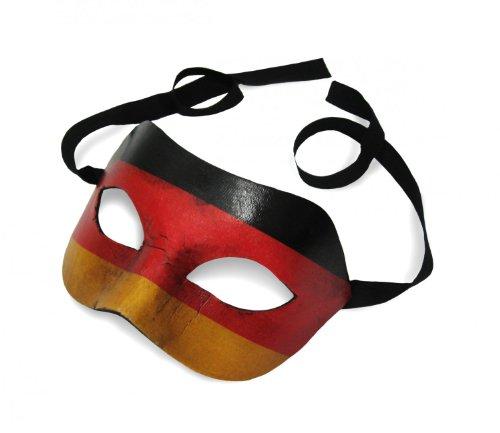 Original Venezianische Maske Colombina Deutschland Flagge Fahne Vintage Look