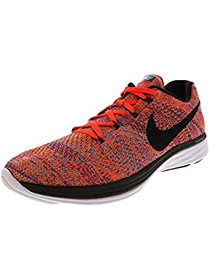 info for 48cbb 28eec ... Running Shoes  ›  Nike Mens Flyknit Lunar3, Concord Black-Total Crimson-Total  Orange, 11. 5 M US