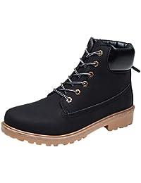HCFKJ Zapatos Casual Moda De Los Hombres Invierno Europa Viento Europeo Retro Puro Color AlgodóN Botas