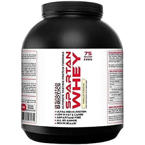 Spartan Biotics Premium proteine del siero 2.25kg (100% Pure L-glutammina In Polvere)