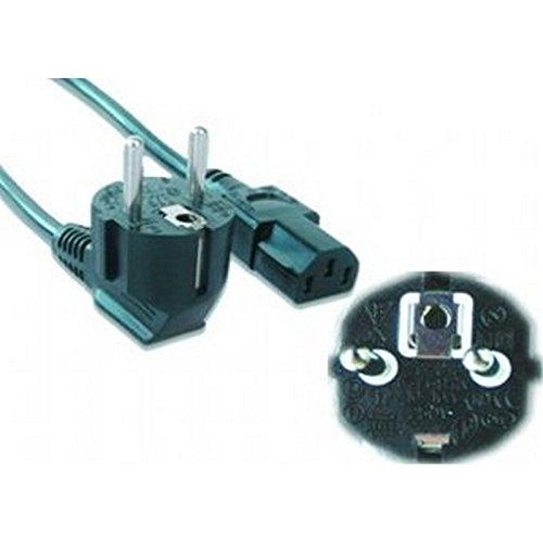 Gembird PC-186-VDE - Cable de alimentación VDE, 1.8m, Color Negro