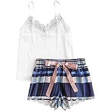 d4426e159a Malloom Pijamas de Mujer Sexy Pijamas de Mujer Verano Conjunto de Pijama y  Ropa Interior a