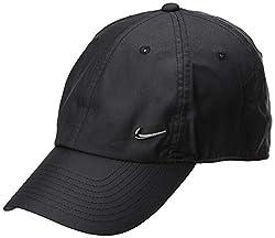 Nike Unisex Heritage 86 Metal Swoosh Cap - Black/(Metallic Silver), One Size