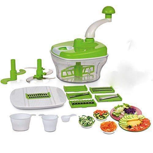 Homemet 10 in 1 Food Processer, Dough Maker, Vegetable Cutter, Slicer, Dicer, Atta Kneader Food Processer, Choppers, Chopper Vegetable Cutter, Atta Maker for Kitchen (Multicolour)