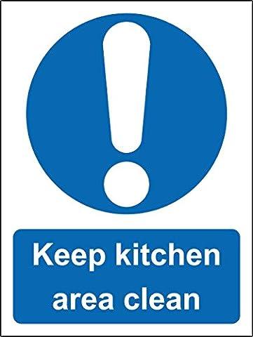 Zone Keep Cuisine propre Restaurant de sécurité Panneau adhésif autocollant–400mm x 300mm