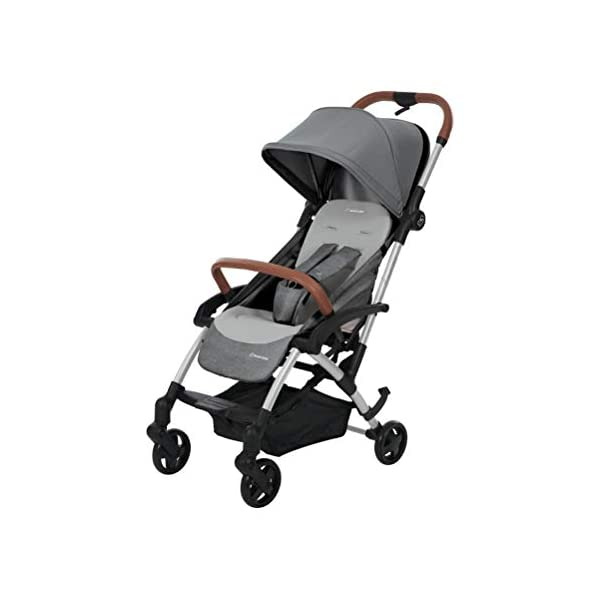 Maxi Cosi Laika Baby Pushchair, Ultra Compact and Lightweight Stroller from Birth, Easy Fold, 0 Months-3.5 Years, 0-15 kg, Nomad Grey Maxi-Cosi Urban stroller, suitable from birth to 15 kg (birth to 3.5 years) Remove the seat and transform into a pram by attaching our Laika Soft Carrycot or add any Maxi-Cosi baby car seat for a full from-birth mobility solution (sold separately) One-hand fold to easily fold stroller using only one hand 1