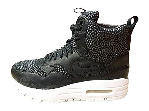 Nike W Air Max 1 Sneakerboot Tech, Chaussures de Sport Femme, Noir (Black / Black-Blanc Sommet), 38 1/2