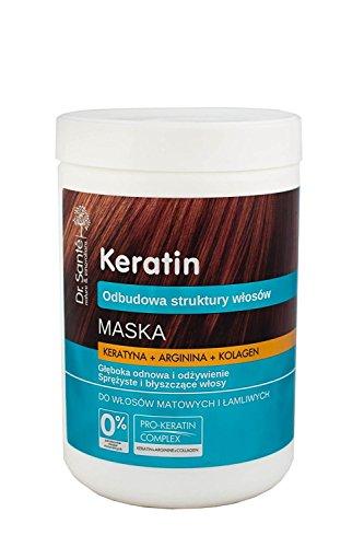 Dr. Santé Keratin Haarmaske Collagen und Arganine tief Regeneration 1000ml 0% Parabenen und Mineralölen