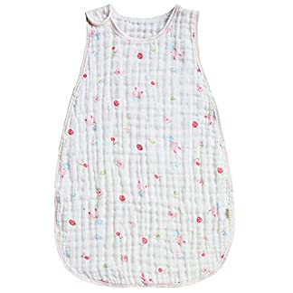 Vandesun – Saco de dormir para bebé (2,5 tog, unisex, 6 capas), color rosa