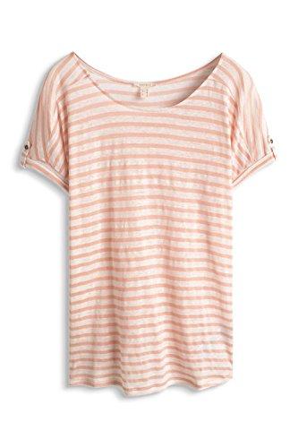 ESPRIT 056EE1K013-T-Shirt Donna Multicolore (Salmon) XL