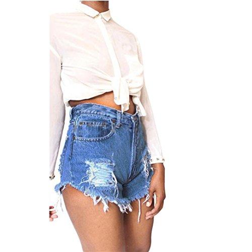 Beautyjourney pantaloncini donna jeans taglie forti corti estivi eleganti pantaloni donna corti estate shorts donna sportivi eleganti pigiama donna cotone estivo (s, blu)
