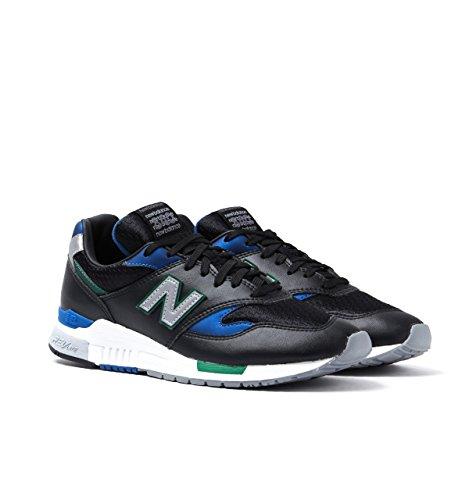 New Balance 840 Black, Blue & Green Trainers - UK 10.5