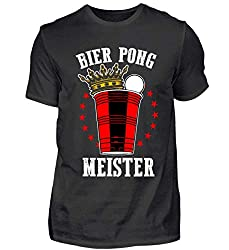 Bier Pong Meister/Biertrinker/Brauerei/Bierbrauer Geschenk - Herren Shirt