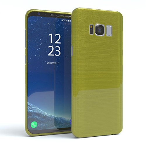 "EAZY CASE Handyhülle für Samsung Galaxy S8 Hülle - Premium Handy Schutzhülle Slimcover ""Brushed"" Aluminium Design - TPU Silikon Backcover in brushed Rot Brushed Grün"