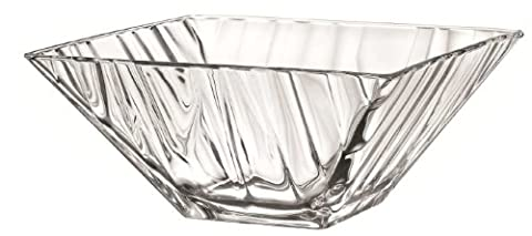 26cm Ice Bowl Square Bowl Glass Fruit Salad Bowl Centrepiece Bowl Table Decoration