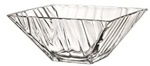 26cm Ice Bowl Square Bowl Glass Fruit Salad Bowl Centrepiece Bowl Table Decoration by CB Supplies