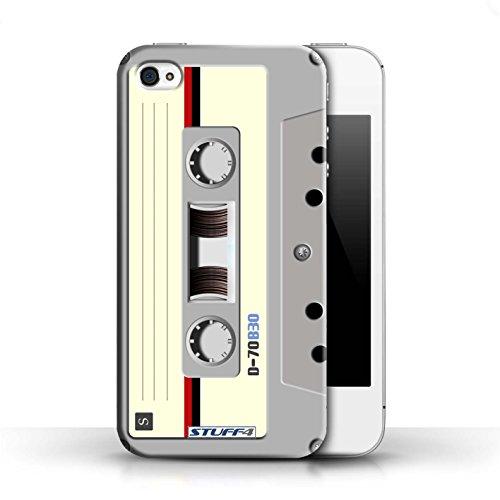 KOBALT® Hülle Case für Apple iPhone 4/4S   VHS-Kassette Video Entwurf   Retro Techik Kollektion Kompaktkassette
