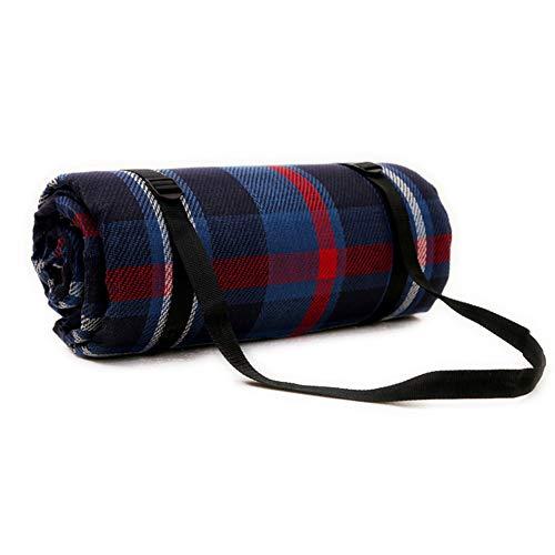 JTYX Picknickdecke Britische Plaid 6mm Dicke Faltbare Tragbare wasserdichte Schlafmatte Outdoor Camping Feuchtigkeits Matten,Blue,300X300CM