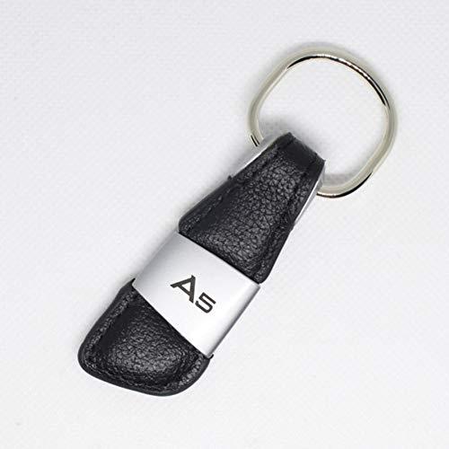 LBPLWY Auto schlüsselbund Schlüsselanhänger,Auto Logo Leder Schlüsselbund Schlüsselbund Schlüsselbund Ring Schlüsselhalter für Audi A3 A4 A6 A8 B6 S3 S4 S5 RS Q5 Auto Styling Zubehör-A5
