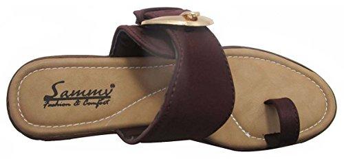 Sammy anneau d'orteil femmes sandale retour chaussures extérieur dames ouvertes Marron