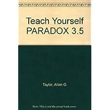 Teach Yourself Paradox