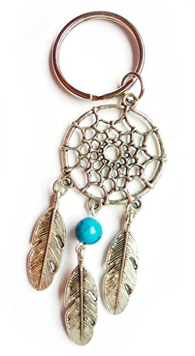 Schamanistischer Schlüsselanhänger Traumfänger DREAM CATCHER / Indianer Meditation Spiritualität Astrologie Schamane Feder Symbol Schutz