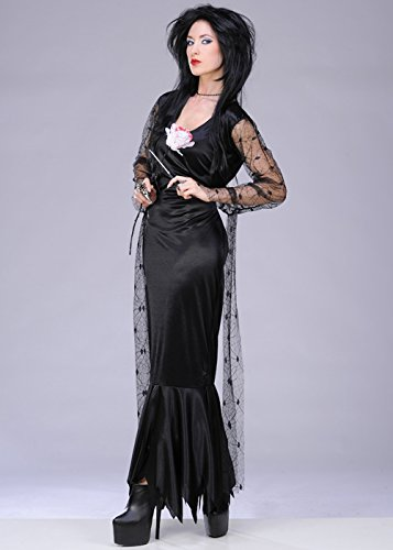hsene Damen Morticia Addams Kostüm Medium (UK 12-14) ()