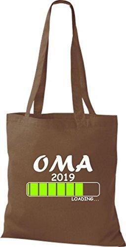 T-shirt Di Stoffa In Cotone Borsa In Cotone Oma 2019 Marrone Medio