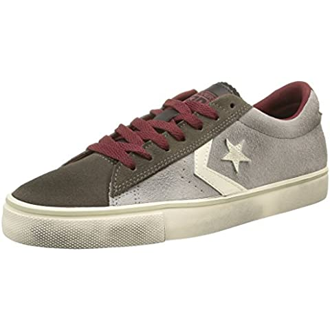 Converse, Pro Leather Vulc Ox Suede/Lth Sneaker,Unisex Adulto
